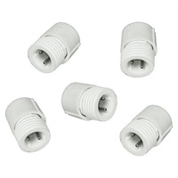 5 Pack - 3/8 in. - Rope Light Power or Extension Connectors - 2 Wire - FlexTec 10MM-PWRCON