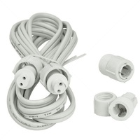 6 ft. - Power Cord Extension - For 2 Wire 3/8 in. Rope Lights - FlexTec 10MM-EXT6-U-KIT