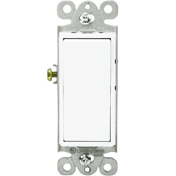 Enerlites 91150-W - 15 Amp - Decorator Switch - White