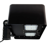 10,500 Lumens - Integrated LED Flood Light Fixture - 100 Watt - 5000 Kelvin - Comes with Slipfitter Mounting Bracket Bracket - PLT E4132