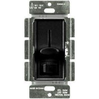 Black - CFL/ LED Dimmer - 3-Way/ Single Pole - Rocker and Slide Switch - 150 Watt Max