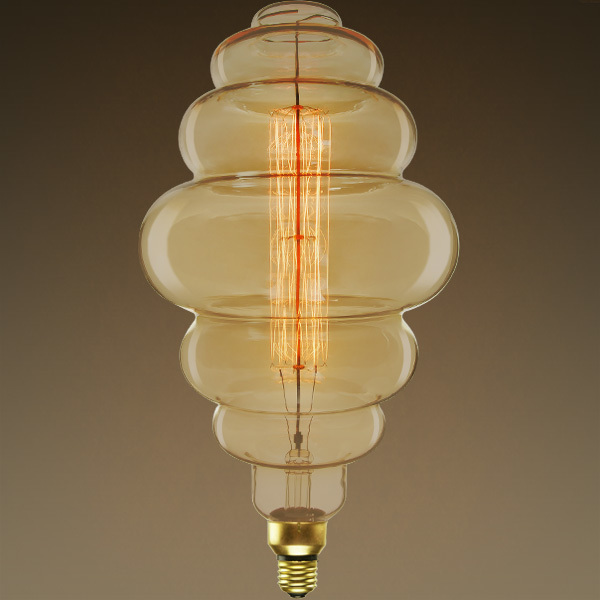 Vintage Light Bulb - 60 Watt - Bee Hive Shape Image