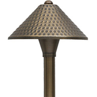 LED Ready - Avalon Landscape Path Light - 12 Volt - Solid Brass - Bronze Finish - For Use with 2 Watt LED JC-G4 - PLT 50111
