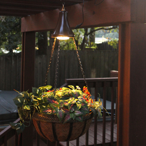 Hanging Solar LED Light Kit with Planter Basket Image