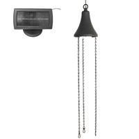 Hanging Solar LED Light Kit - 3100 Kelvin - 40 Lumens - Black - Gama Sonic GS-6 KIT