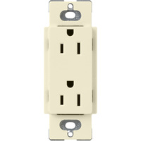 15 Amp - Duplex Receptacle - Light Almond - 125 Volt