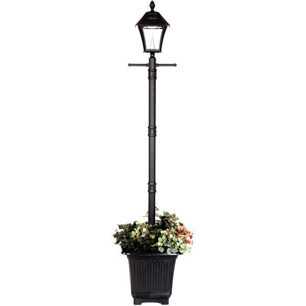 Solar Baytown Lamp Post with Planter Base Image