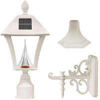 Solar Baytown Lantern with 3 Mounting Options - 3000/6000 Kelvin - 70/80 Lumens - White - Gama Sonic GS-106FPW-W