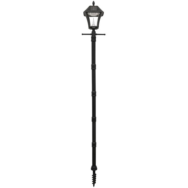 Solar Baytown II Lamp Post with Planter and EZ Anchor Base Image