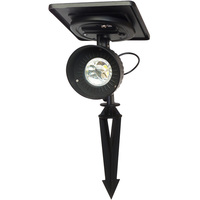 Progressive Solar LED Spot Light - 3000 Kelvin - 100 Lumens - Black - Gama Sonic GS-103-WW