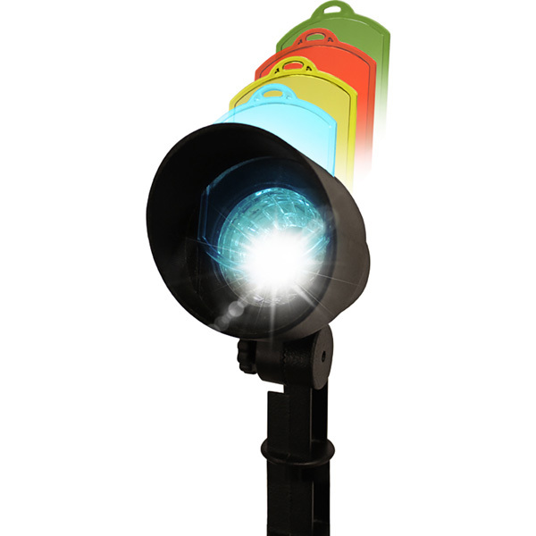Solar LED Spot Lights with Color Lenses Image
