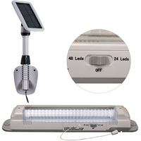 Solar LED Shed Light - 6000 Kelvin - 400 Lumens - Gama Sonic GS-16LD