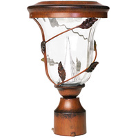Solar Flora Lamp with 3 in. Fitter - 6000 Kelvin - 70 Lumens - Antique Bronze - Gama Sonic GS-113F