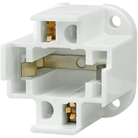 2 Pin G24d-3 CFL Socket - Bottom Screw Down Mount - For 26 Watt Twin Tube Lamps - 75 Watt Maximum - 600 Volt Maximum - Satco 90-1548