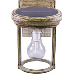 Solar Coach Wall Lantern with Solar LED Light Bulb Image