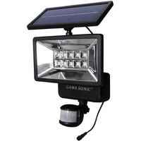 Solar LED Security Light with Motion Sensor - 6000 Kelvin - 400 Lumens - Gama Sonic GS-10
