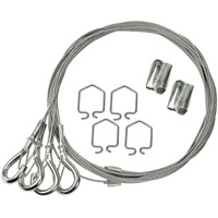 Y-Hook - 10 ft. Suspension Cable Hanging Kit - for TCP-MG4RA454U10 High Bay Fixture - Adjustable - TCP TCPYHOOKX10FT