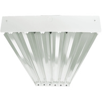 6 Lamp - F32T8 - Fluorescent High Bay - Length 48 in. x Width 19.5 in. - 86% Specular Reflector - 120-277V - Lamps Sold Separately - Pack of 2 - PLT 54918