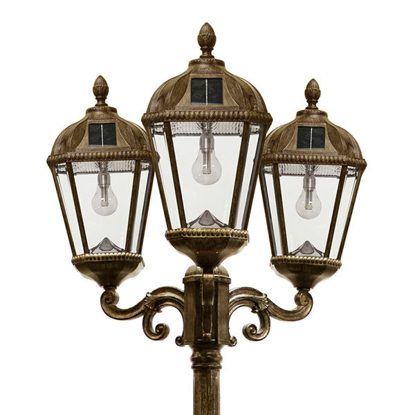 Solar Royal Lamp Post with Triple Lamp Heads Image