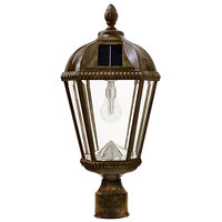 Solar Royal Lamp with 3 in. Fitter - 2700 Kelvin - 120 Lumens - Weathered Bronze - Gama Sonic GS-98B-F-WB