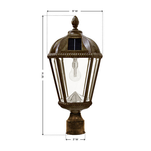 Solar Royal Lamp with 3 in. Fitter Image