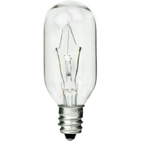40 Watt - T8 Incandescent Light Bulb - Clear - Candelabra Base - 130 Volt - PLT IN-0040T8CLC130