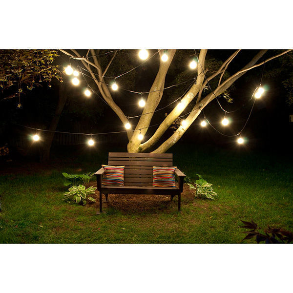 48 ft. - Patio Light Stringer with LED S14 Vintage Bulbs Included Image