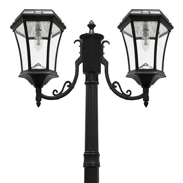 Solar Victorian Lamp Post with Double Lamp Head Image