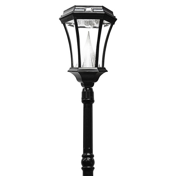 Solar Victorian Lamp Post with Single Lamp Head Image