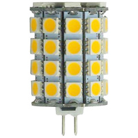 5 Watt - GY6.35 Base LED - 3000 Kelvin - Halogen Color - Replaces 50 Watt Halogen - 10-30 Volt DC Only
