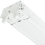 8 ft. LED Strip Fixture, 4 Lamp (Sold Separately) , White Finish, PLT-10917
