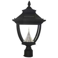 Solar Pagoda Lamp with 3 in. Fitter - 6000 Kelvin - 180 Lumens - Black - Gama Sonic GS-104F