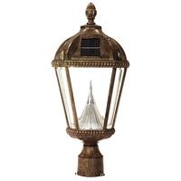 Solar Royal Lamp with 3 in. Fitter - 6000 Kelvin - 120 Lumens - Weathered Bronze - Gama Sonic GS-98F-WB