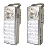 Rechargeable Emergency Lanterns with LED Flashlights - 6000 Kelvin - 180 Lumens - 2 Pack -  - Gama Sonic DLG2-972LS