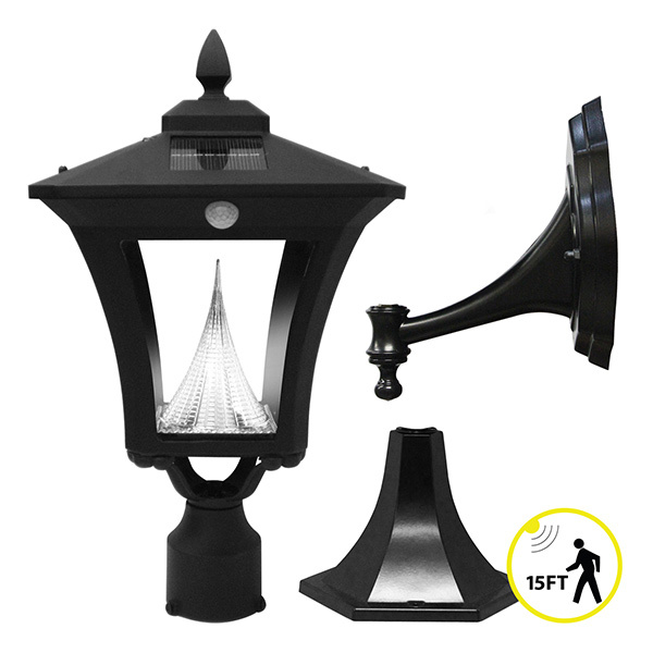 Solar Weston Wall Lantern with Motion Sensor Image