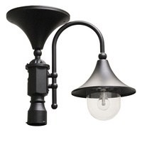 Solar Everest Lamp with 3 in. Fitter - 2700 Kelvin - 200 Lumens - Black - Gama Sonic GS-109F-B