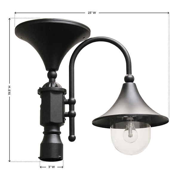 Solar Everest Lamp with 3 in. Fitter Image