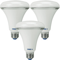 665 Lumens - 2700 Kelvin - Soft White - LED BR30 - 8 Watt - 65W Equal - Dimmable - 120V - 3 Pack - Cree BR30-65W-27K-M3