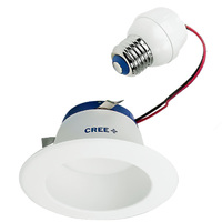 575 Lumens - 4 in. Retrofit LED Downlight - 9W - 50W Equal - 2700 Kelvin - Smooth Baffle Trim - Dimmable - 120V - Cree DR4-575L-27K-B1
