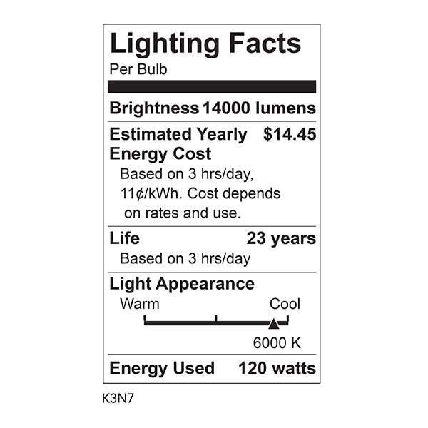 LED Corn Bulb - 14,000 Lumens - 120 Watt Image