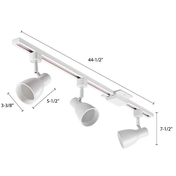 Lithonia LTKSTBFBR20MWM4 - Step Baffle Track Light Kit Image