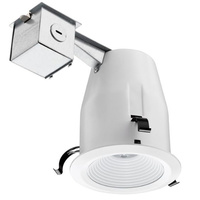 4 in. LED Downlight - 8.2 Watt - 50 Watt Equal - Halogen Match - 520 Lumens - 3000 Kelvin - 93 CRI - Stepped Baffle Trim - 120V - Lithonia 224V0V