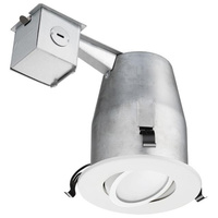 4 in. LED Downlight - 8.2 Watt - 50 Watt Equal - Halogen Match - 530 Lumens - 3000 Kelvin - 93 CRI - Adjustable Gimbal - Smooth Baffle Trim - 120V - Lithonia 235JN6