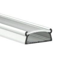 6.56 ft. Anodized Aluminum TAMI Channel - For LED Tape Light and Strip Light - Frosted Lens Cover Included - Klus B5390ANODA_2