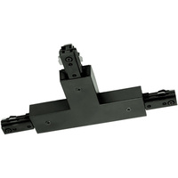 Black - T-Connector - Right Hand Polarity - Dual Circuit - Compatible with Halo Track - Nora NT-2314B/R