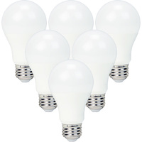 800 Lumens - 9 Watt - 60W Incandescent Equal - LED - A19 - 2700 Kelvin Warm White - 6 Pack