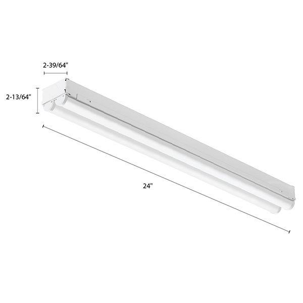 Lithonia CMNS - LED Strip Light Fixture With Lens Image