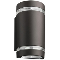 LED Wall Cylinder - 14 Watt - 940 Lumens - 75W Equal - 4000 Kelvin - Outdoor - Up and Downlight - Dark Bronze - 120-277V - Lithonia OLLWU