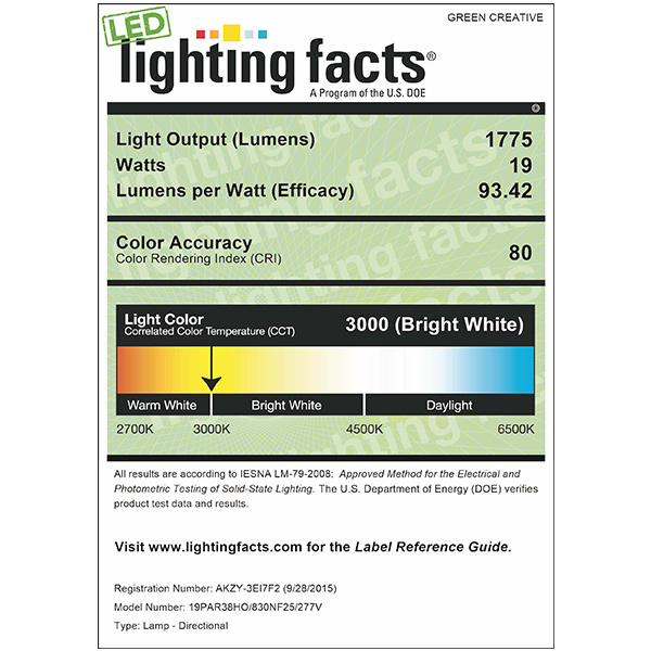 LED - PAR38 - 19 Watt - 1775 Lumens Image