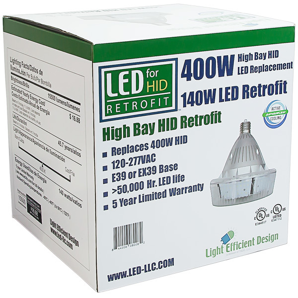 15,895 Lumens - 140 Watt - LED HID Retrofit Image